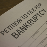Image of petition to file bankruptcy