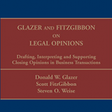 Image of Book Cover Glazer and Fitzgibbon on Legal Opinions