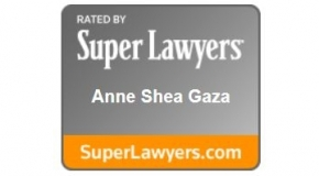 SuperLawyers Logo Including Anne Shea Gaza Name