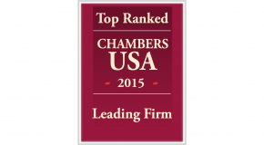 Chambers USA Top Ranked LEADING FIRM 2015