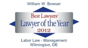 William Bowser Best Lawyers Lawyer of the Year 2012