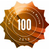 Global Restructuring Review 100 Rosette for 2018