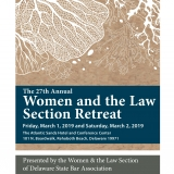 27th Annual Women and the Law Section Retreat Brochure