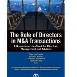 The Role of Directors in M&A Transactions Book Cover