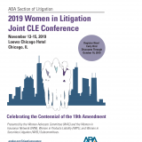2019 Women in Litigation Joint CLE Conference Brochure Cover